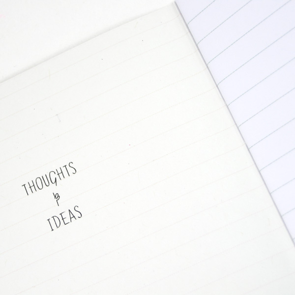 notebook thoughts inside