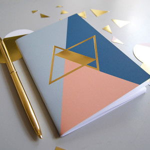 BL-ij notebook Gold blue