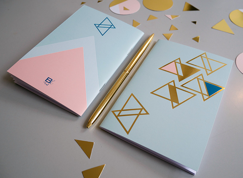 BL-ij notebook Gold Mint