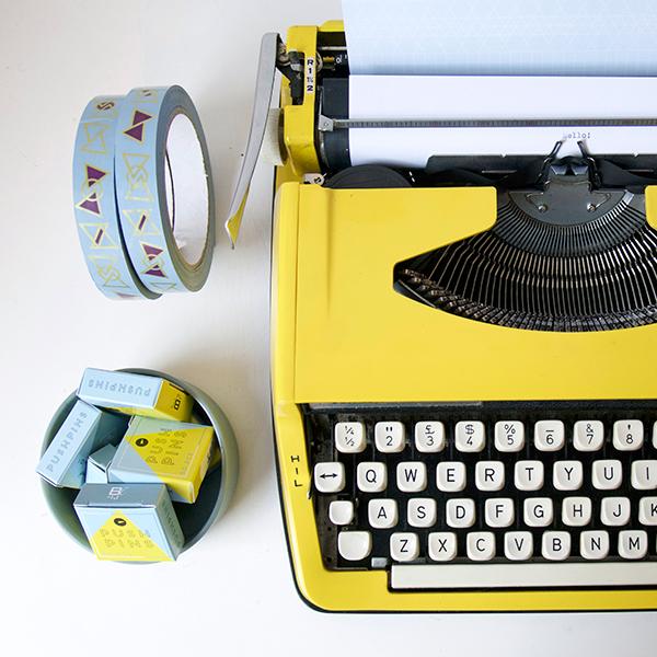 typmachine-geel